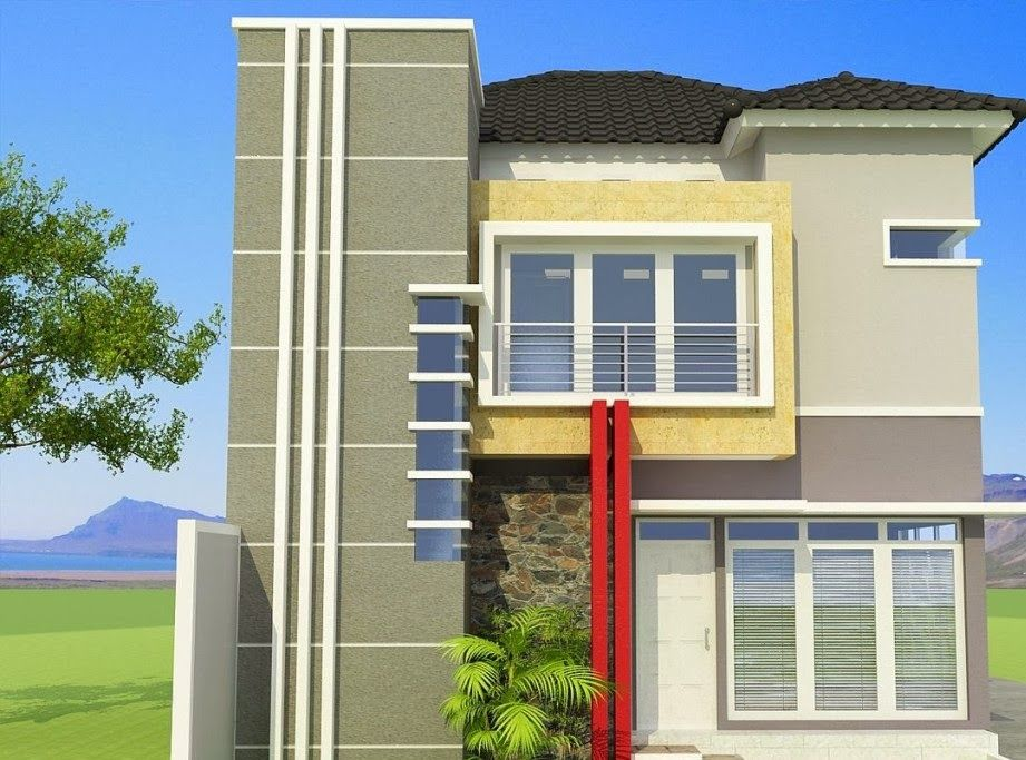 Desain Rumah Minimalis 6x12 Tampak Depan Lantai 2