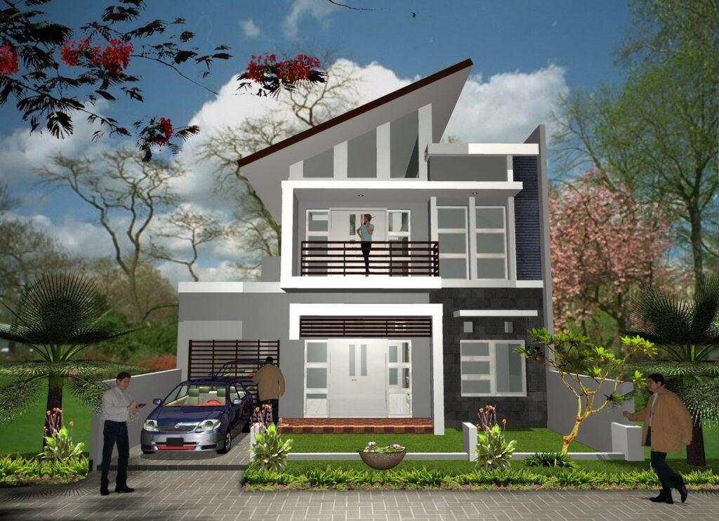 Fasad Rumah 2 Lantai