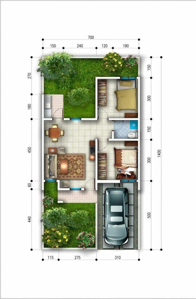 Gambar Denah Rumah Type 45
