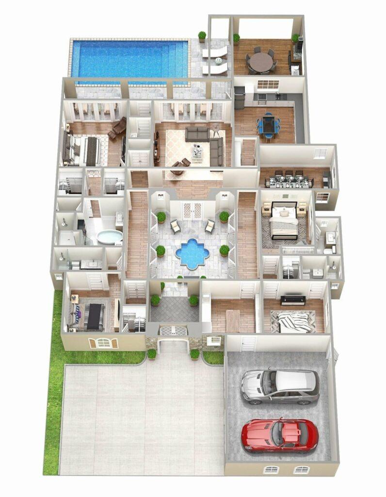 Model Denah Rumah Sederhana Tapi Mewah