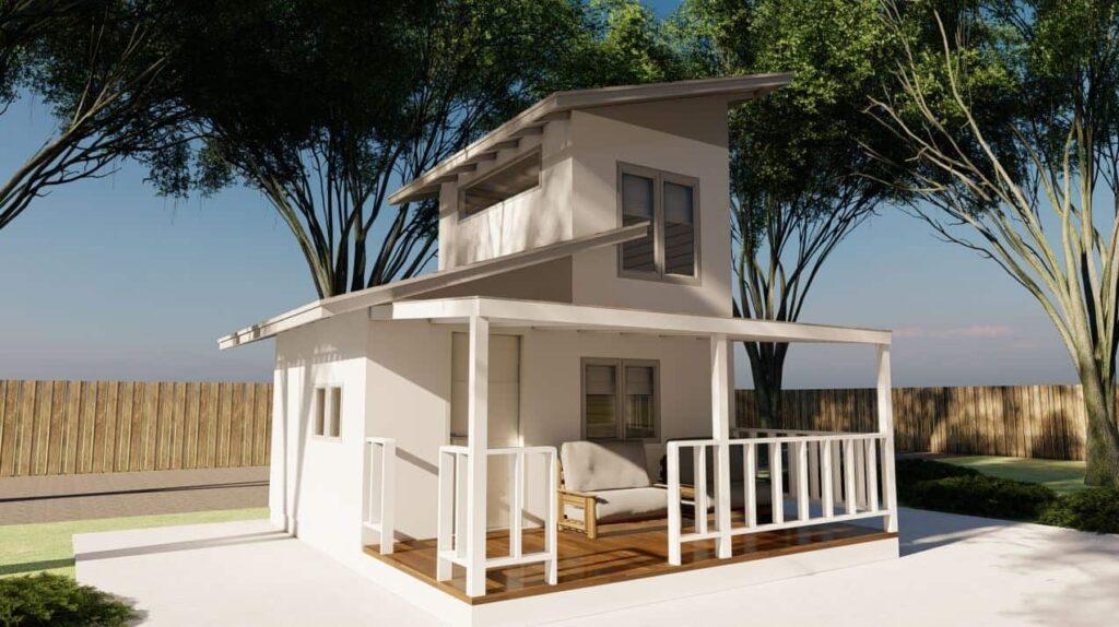 Rumah 2 Lantai Desain Compact